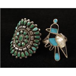 (2)Turquoise Rings