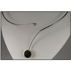 Artistic Contemporary Black Onyx Necklace