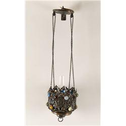 Victorian Era Kerosene Hanging Lamp