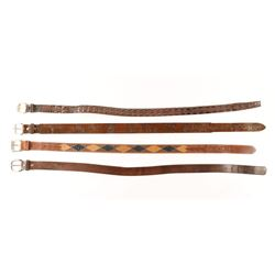 Collection of 4 Western Belts