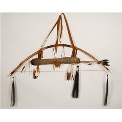 Native American Bow and Quiver Set