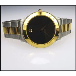 Sophisticated Men's Two Tone Movado Museum Watch