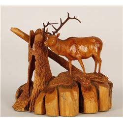 Black Forest Carving of Elk