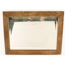 Lot of 2 Oak Framed Mirrors