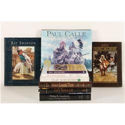Lot of 9 Western Art Books