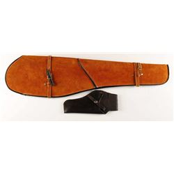 Suede covered Rifle Scabbard & Holster