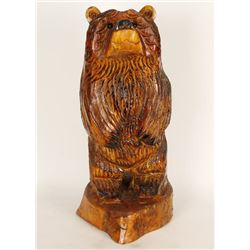 Wood Carving of a Bear