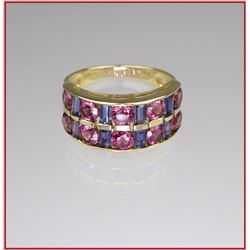 Gorgeous Pink Tourmaline & Tanzanite Band