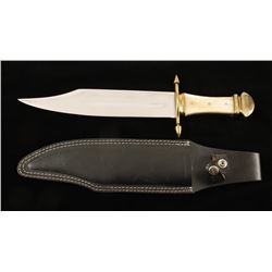 Large Unmarked Bowie Knife