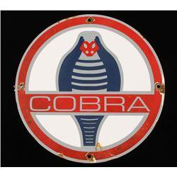 Vintage Shelby Cobra Porcelain Advertising Sign