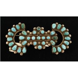 Lone Mountain Turquoise Brooch