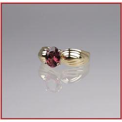 Pretty Rose Pink Tourmaline Ring
