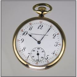 Antique Gold Plated Men's Pocket Watch