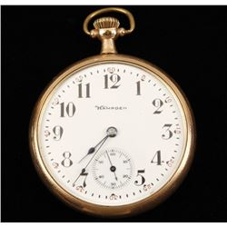 Hampden Open Faced Pocket Watch