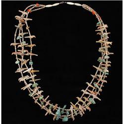 Antique Navajo Indian Bird & Beads Necklace