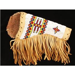 Beaded Leather and Rawhide Holster