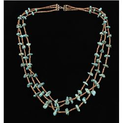 3 Strand Lone Mountain Turquoise Necklace
