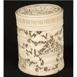 Antique Chinese Ivory Cigarette Box