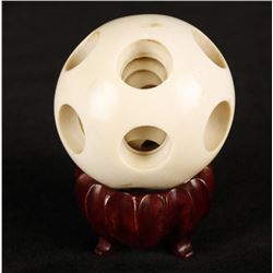 Antique Chinese Ivory Sphere