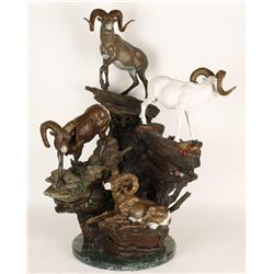 Fine Art Bighorn & Dall Sheep Bronze by Krausz