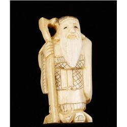 Ivory Figurine of Bearded Man