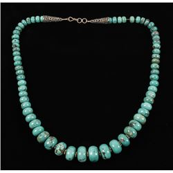 Chinese Turquoise Beaded Necklace