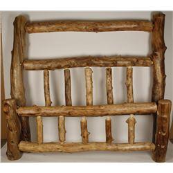 Handsome Aspen Wood Log Bed