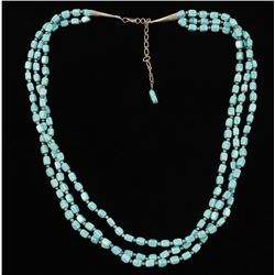 3 Strand Sleeping Beauty Turquoise Necklace