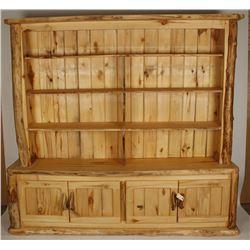 Custom Made Large Aspen Wood Bookcase