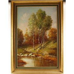Original Oil of Landscape by A. Ferretti