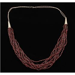 10 Strand Garnet Necklace