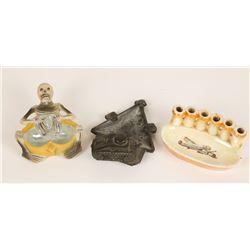 Collection of 3 Cigarette Ashtrays