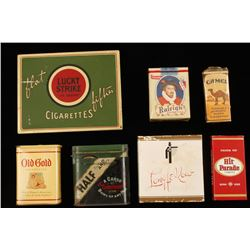 Collection of Vintage Cigarettes and Containers