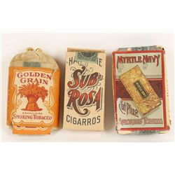 Collection of 3 Vintage Cigarettes