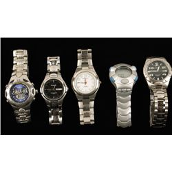 Lot of 5 Men's Wristwatches
