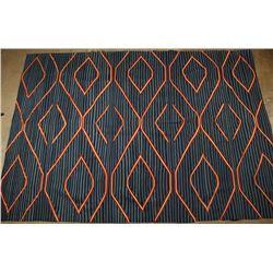 Navajo Design Flat Weave Rug