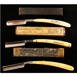 Lot of 3 Straight Razor