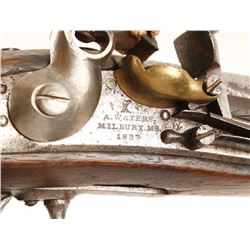 A. Waters U.S. Model 1836 Flintlock Pistol