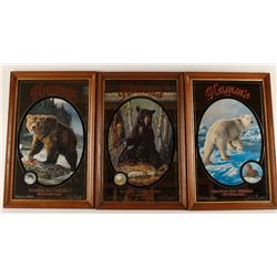 Collection of 3 Hamm's Advertiser Mirrors