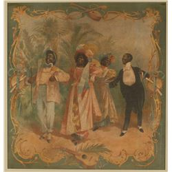 "Framed Tapestry ""The Black Minstrels"""