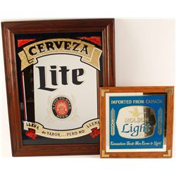 Collection of Two Beer Advertiser Mirrors