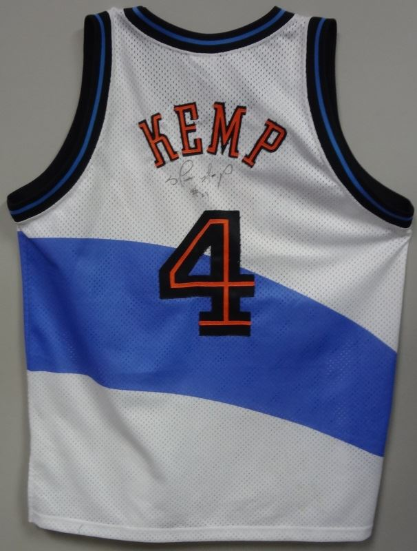 timeless design 3bb70 64e5d SHAWN KEMP AUTOGRAPHED Cleveland Cavs Adult 48 NBA Starter JERSEY