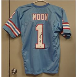 WARREN MOON HOF  1 AUTOGRAPHED HOUSTON OILERS  1 THROWBACK JERSEY PSA DNA 96e4f7e42