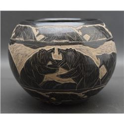 SIOUX POTTERY JAR (RED STAR)