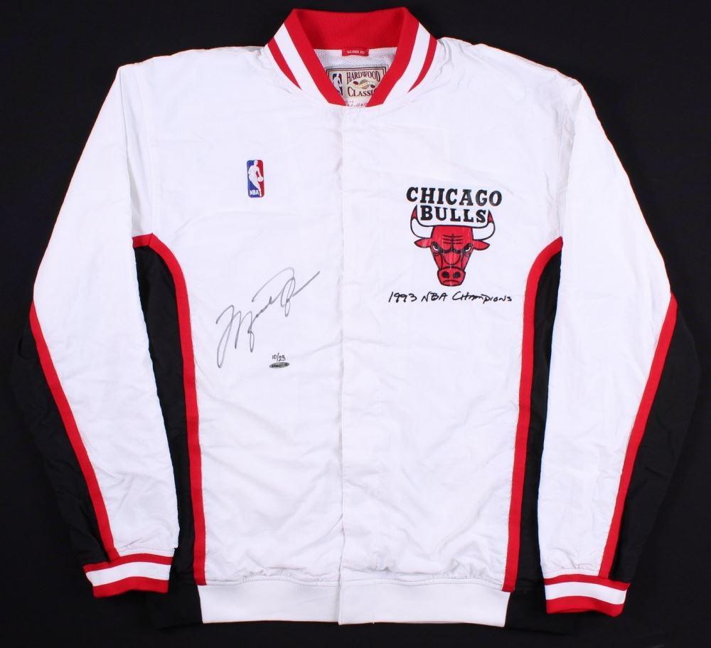 7f78d1e5c18 Michael Jordan Signed LE Authentic Mitchell   Ness Chicago Bulls Warm Up  Jacket (UDA COA. Loading zoom