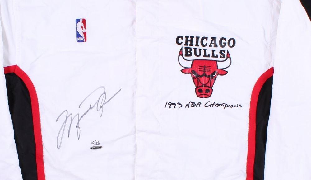 2f650711ef9 ... Image 2   Michael Jordan Signed LE Authentic Mitchell   Ness Chicago  Bulls Warm Up Jacket ...