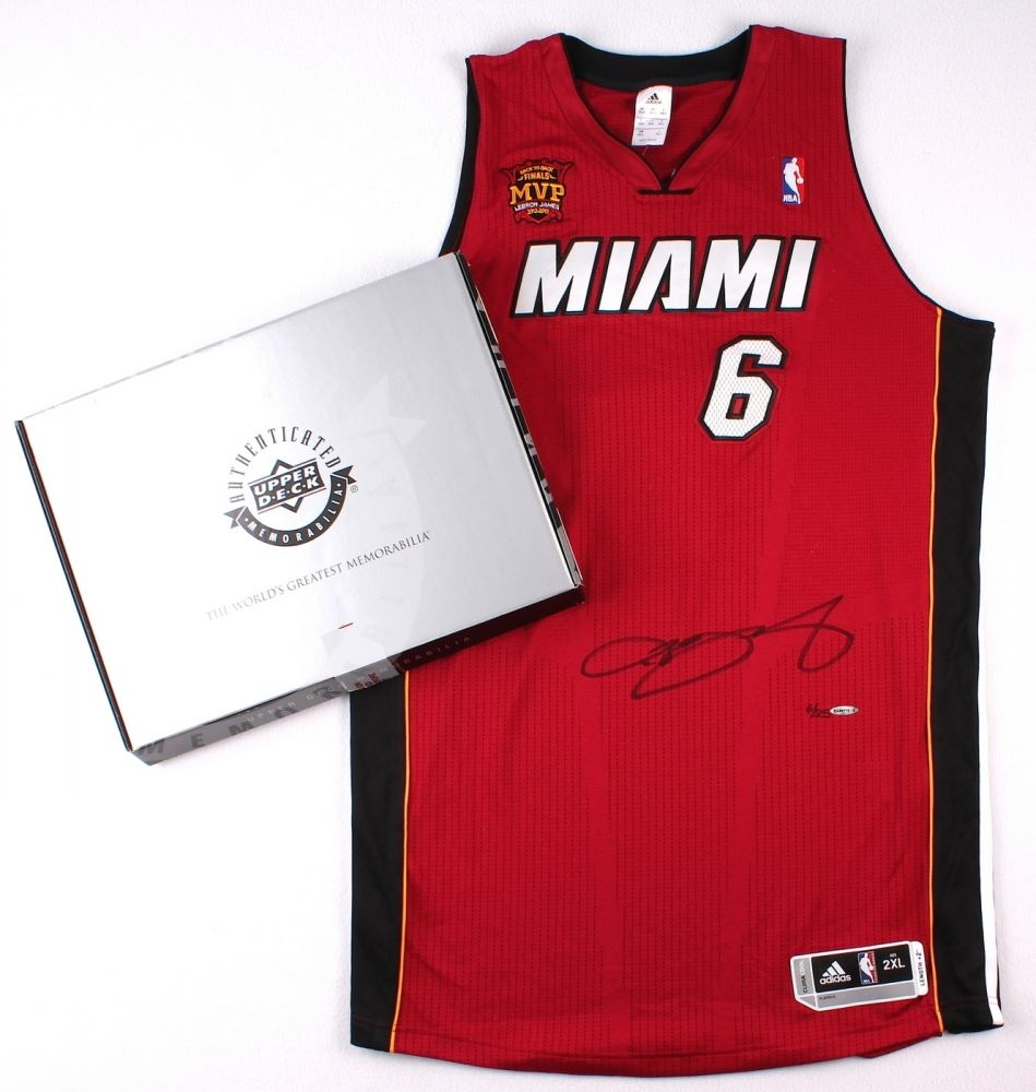 differently 5354d 6dd4c LeBron James Signed LE Miami Heat Authentic Adidas ...