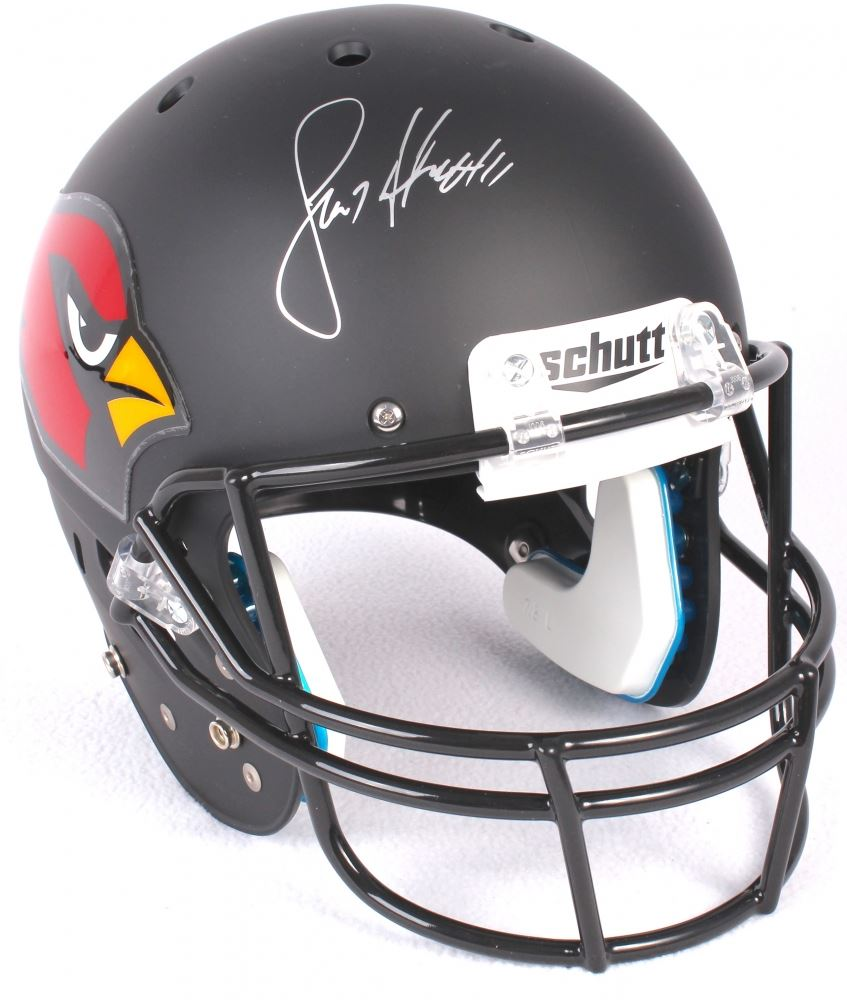 d76bfe45 Larry Fitzgerald Signed Cardinals Custom Matte Black Full-Size Helmet