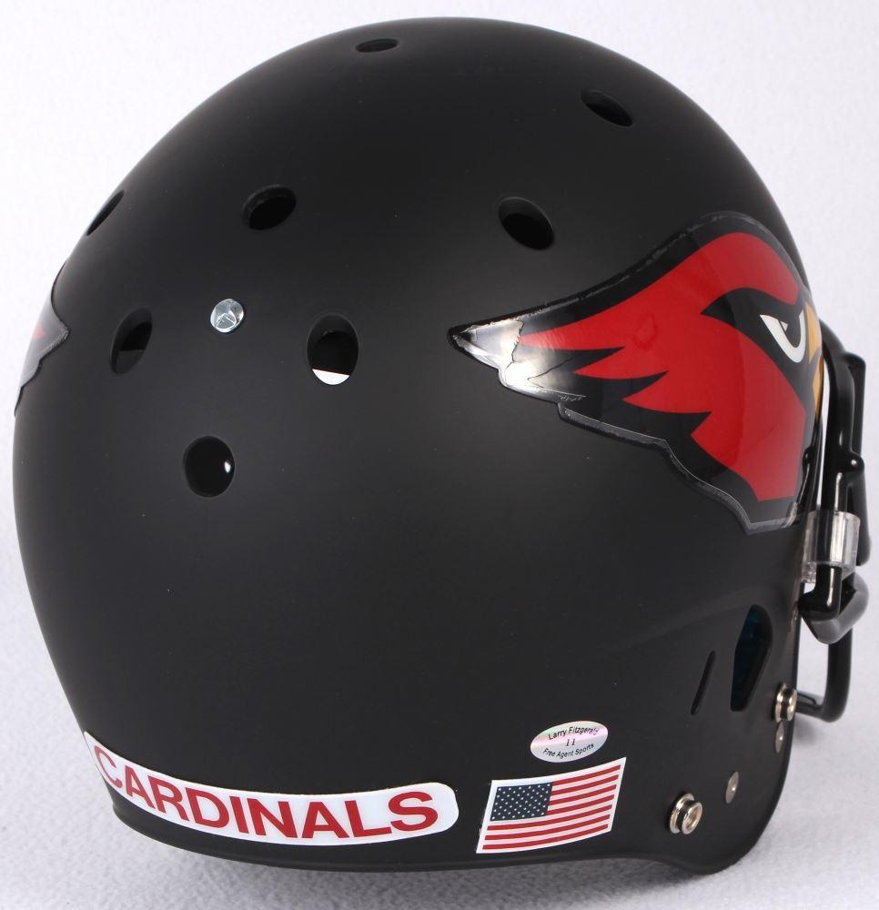 aae7111c Larry Fitzgerald Signed Cardinals Custom Matte Black Full-Size ...