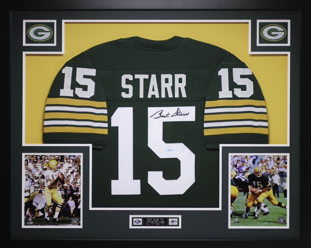 buy online b2e23 54a0e Bart Starr Signed Packers 35